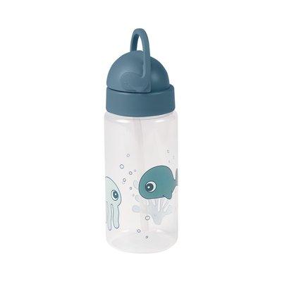 Done by Deer Straw Bottle Sea Friends - Blue