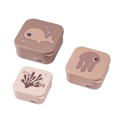 Done By Deer 3 Snack Boxes Sea Friends - Powder