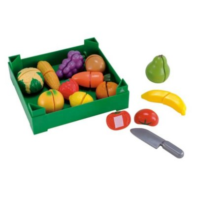 Crate of Cut and Play Fruit and Vegetables