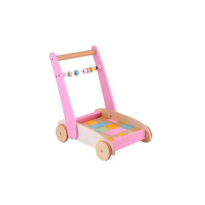 Pink Wooden Toddler Truck