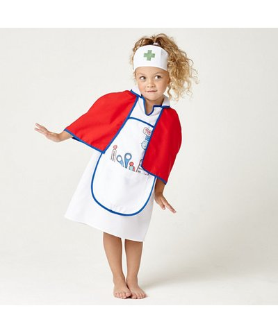 Nurses Dress Up Outfit with Cape 3yrs+