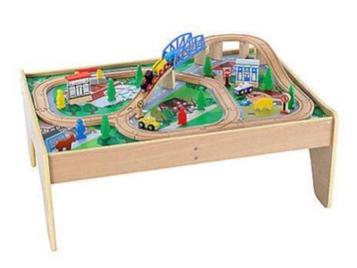 ELC Small Wooden Train Table
