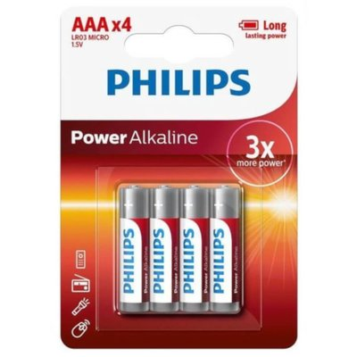 Philips AAA Batteries - 4 Pack