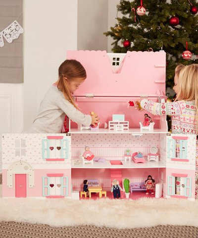 ELC Deluxe Rosebud House with Furniture