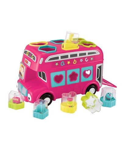 ELC Shape Sorting Bus Pink