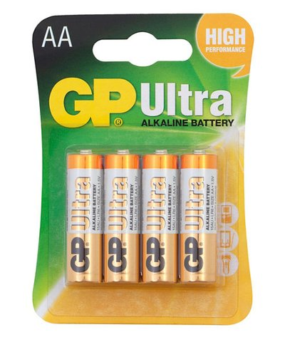 GP Ultra Alkaline AA Batteries - 4 Pack