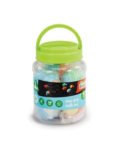 elc easy-grip six chalks tub