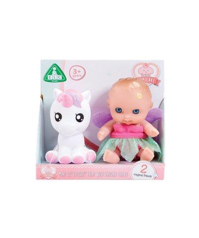 cupcake tiny teenies fairy doll and unicorn