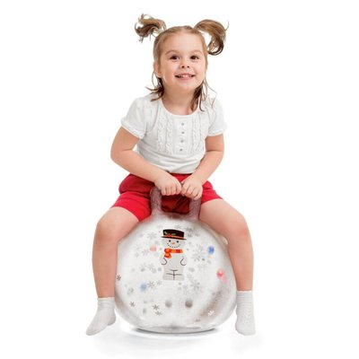 christmas snow globe led light bouncer