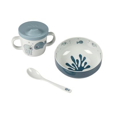 Done by Deer First Meal Set Sea Friends - Blue