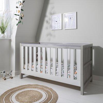 Tutti Bambini Modena Cot Bed - Grey Ash / White