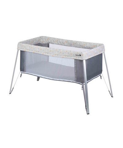 Safety 1st Globe Dreamer Crib - Warm Grey