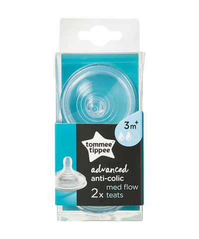 Tommee Tippee Advanced Anti-Colic Medium Flow Teat - 2 pack