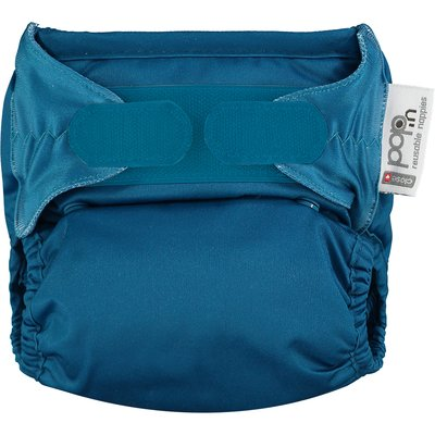 Pop In Single Bamboo Nappy -Peacock - Default