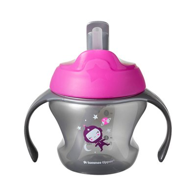 Tommee Tippee Explora 6m+ Weaning Straw Cup - Pink