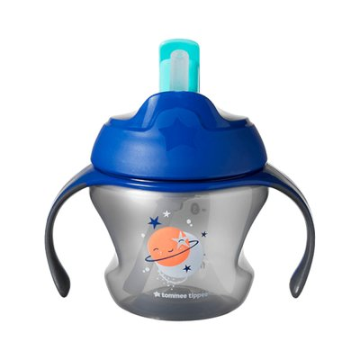 Tommee Tippee Explora 6m+ Weaning Straw Cup - Blue