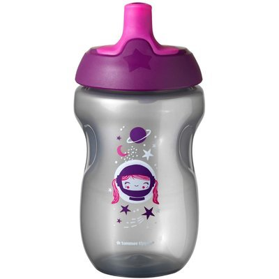 Tommee Tippee 12Months+ 300ml Sports Bottle - Pink