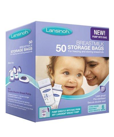 Lansinoh Breastmilk Storage Bags - 50 Pack