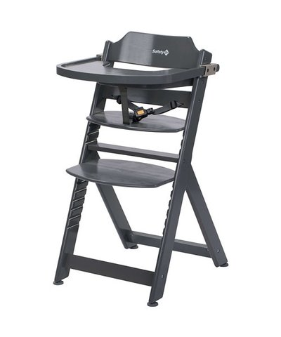 Safety 1st Timba Wooden Highchair - Warm Grey
