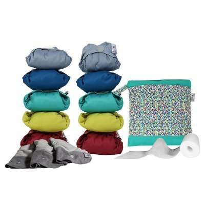 Pop-In Middle Box Nappies - Brights - Default