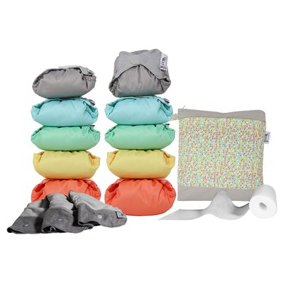 Pop-In Middle Box Nappies - Pastel