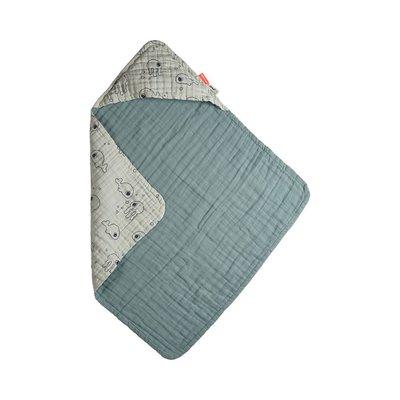 Done by Deer Hood Towel Sea Friends - Blue - Default