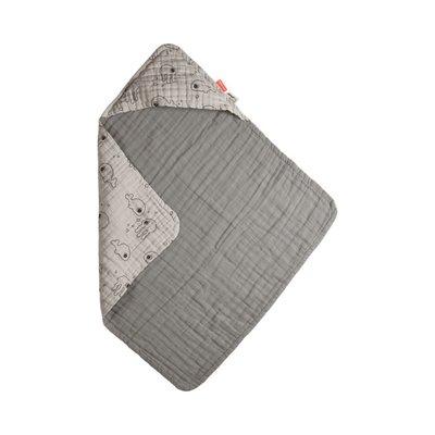 Done by Deer Hood Towel Sea Friends - Grey - Default