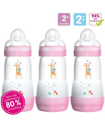 MAM Anti-Colic 260ml Bottles - 3 Pack