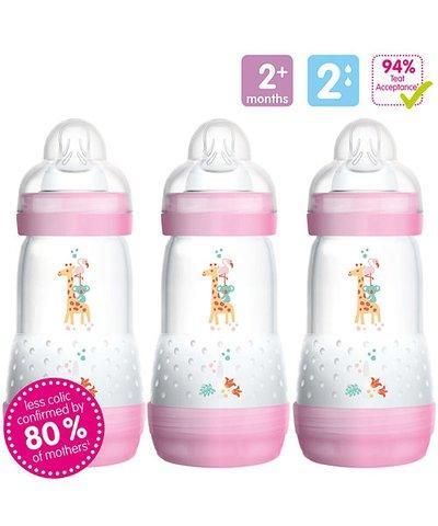 MAM Anti-Colic 260ml Bottles - 3 Pack