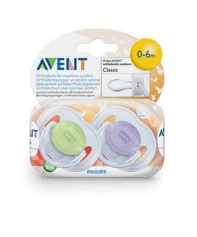 Philips Avent Translucent Soother- 0-6 Months