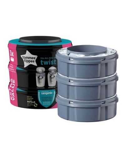 Tommee Tippee Click 'n' Twist Cassettes Refill 3 Pack