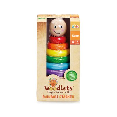 Woodlets Rainbow Stacking Rings
