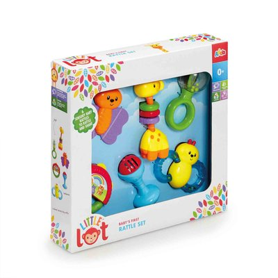 Little Lot Babys First Rattle Set