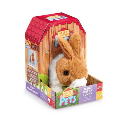 Pitter Patter Pets Teeny Weeny Bunny- Brown