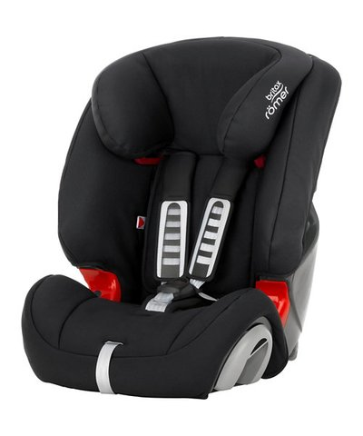 Britax Evolva 1-2-3 High Back Booster Car Seat with Harness - Cosmos Black