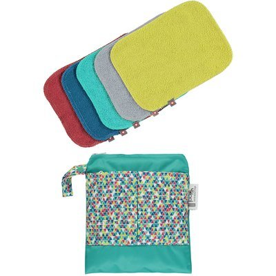 Pop-In Reusable Baby Wipes - Brights