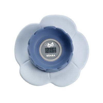Beaba Lotus Bath Thermometer - Grey/Blue