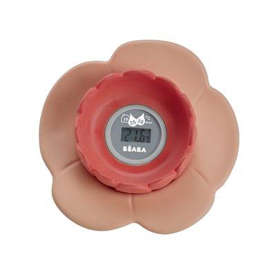 Beaba Lotus Bath Thermometer - Nude/Coral