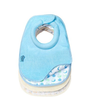 Tommee Tippee Closer to Nature Milk Feeding Bibs - 2 Pack - Blue