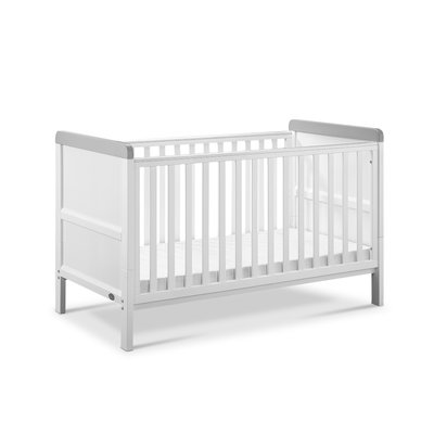 Babylo Sophia Cotbed & Cot Top Changer - White/Grey