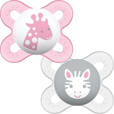 Mam Start 0-2 Month Soother - Pink