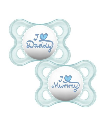 MAM Style Soothers 0m+ - Blue