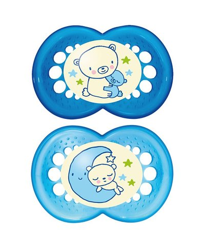 Mam Night Soother 6m+ - Blue