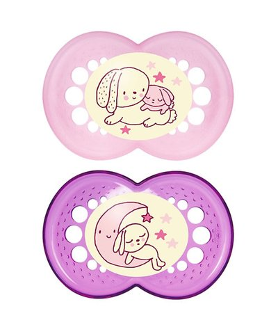 Mam Night Soother 6m+ - Pink