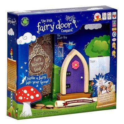Irish Fairy Door Purple Arched