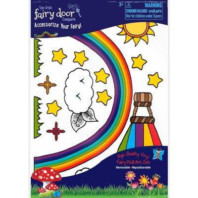 Irish Fairy Door Rainbow Wall Art