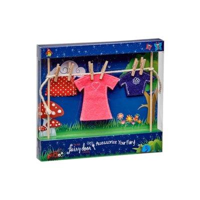Irish Fairy Door Clothes Line & Female Fairy Clothes