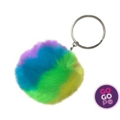 GoGoPo Fluffy Neon Keyring