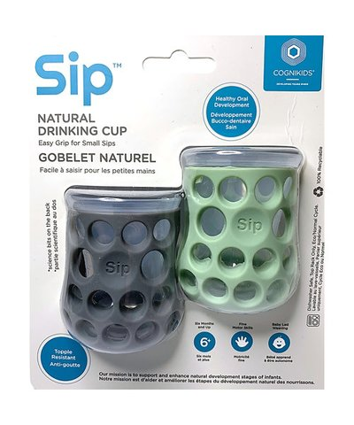 Cognikids Sip Natural Drinking Cup - Grey/Sage