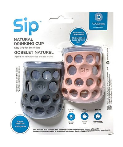 Cognikids Sip Natural Drinking Cup - Grey/Blush